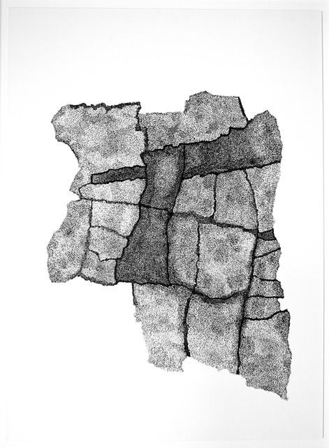 Fray & Fragment (59.5 cm x 84 cm) Indian Ink on Paper 14